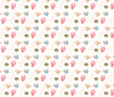 Coral fabric by lilafrances on Spoonflower - custom fabric
