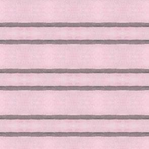 Pink and Grey Horizontal Stripes
