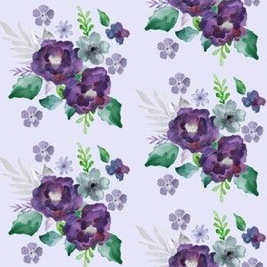 Boho Purple & Gray Floral