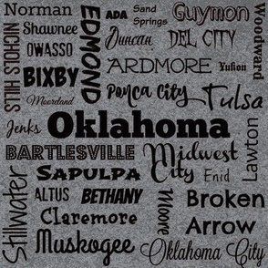 Cities of Oklahoma, grey