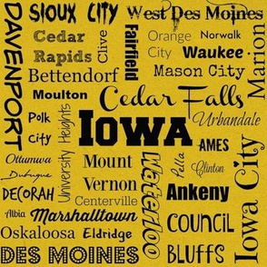 Cities of Iowa, yellow