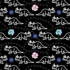 Floral Dinosaur Color Splash