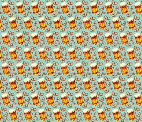 Beer & Pretzels fabric by kellygilleran on Spoonflower - custom fabric