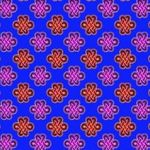Celtic Royal Knot - red/purple/blue