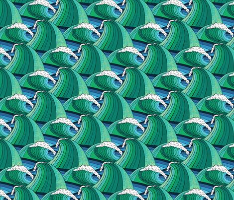Oceans Tempest fabric by samalah on Spoonflower - custom fabric