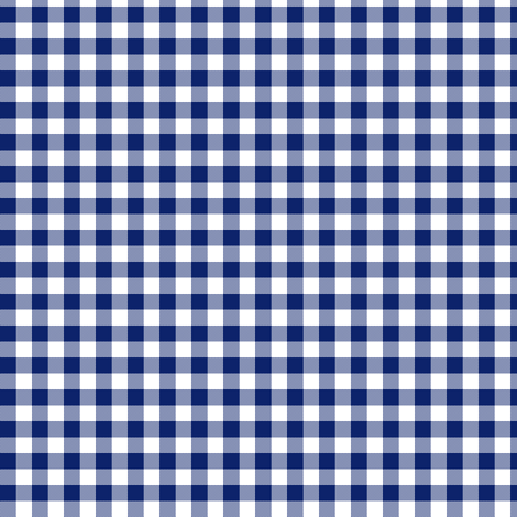 Hawaiian gingham - navy and white fabric by weavingmajor on Spoonflower - custom fabric