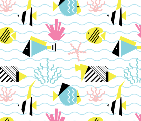 ocean1 fabric by radiocat on Spoonflower - custom fabric