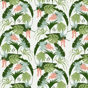 Tropical print light background