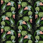 Tropical print black backgroud