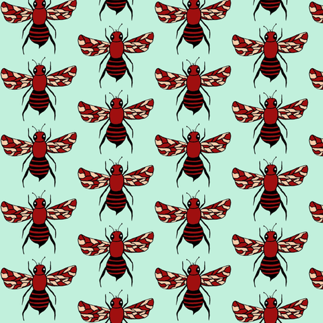 Oh Baby Bees Single  Bee fabric by sewindigo on Spoonflower - custom fabric