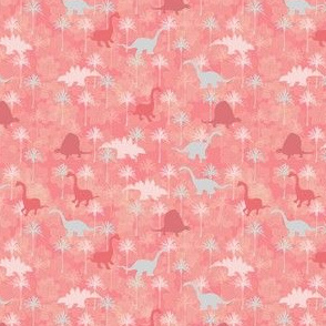 Ditzy Dinosaur Floral & Palm Pattern