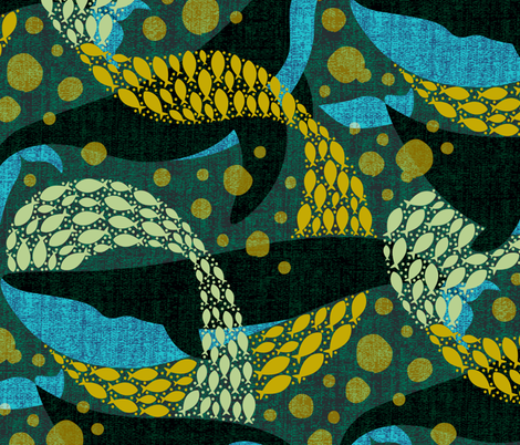 Deep Ocean fabric by meliszawang on Spoonflower - custom fabric