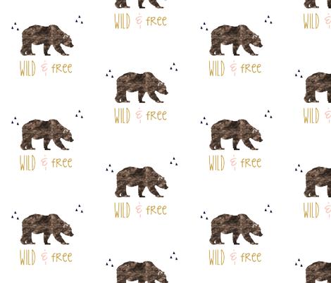 wild_free_navy_repeat fabric by graceandcruzdesigns on Spoonflower - custom fabric