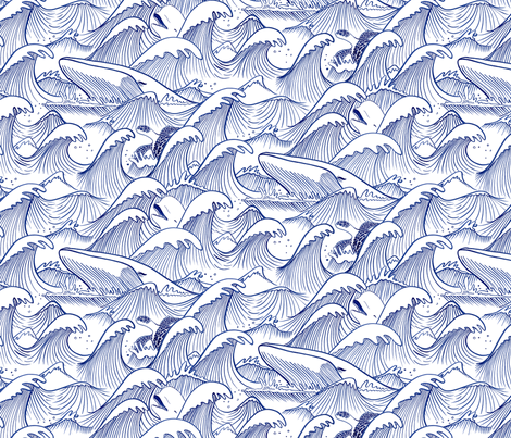 Turbulent Oceans fabric by indiepixels on Spoonflower - custom fabric