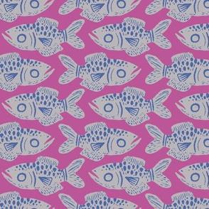 Fish Print - Mauve