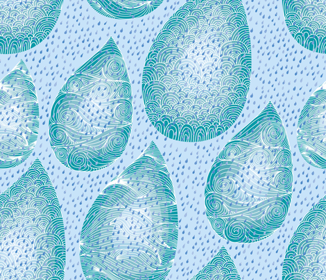 Ocean_Drops fabric by owlsquirrel&twobirds on Spoonflower - custom fabric