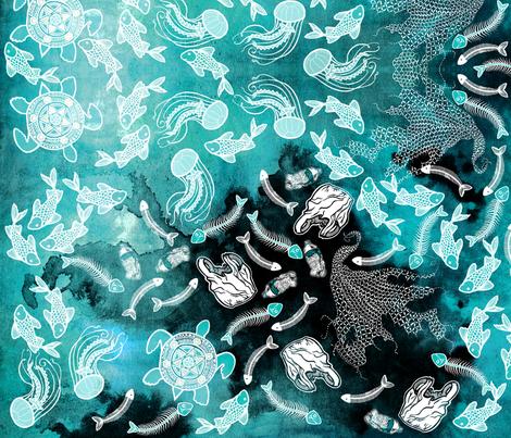 oceans in danger fabric by perlesdepluie on Spoonflower - custom fabric
