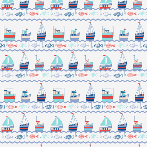 you shall have a fishy fabric by @millydees on Spoonflower - custom fabric