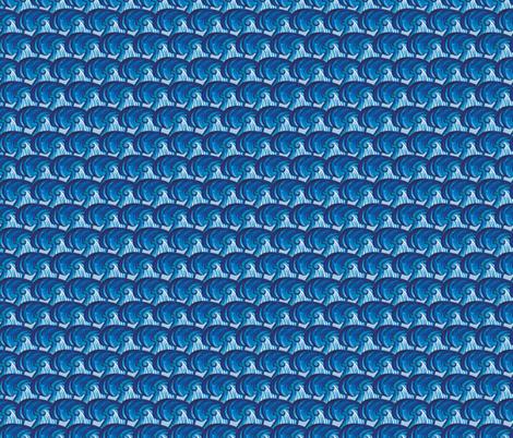 OceanWaves fabric by christinelynnjohansen on Spoonflower - custom fabric