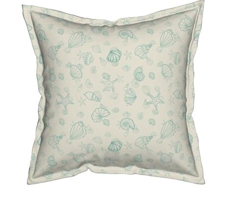 sea shells - green