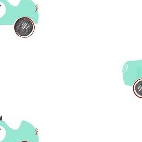 Vintage Teal Car