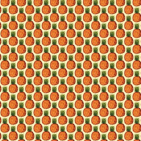 Pineapple fabric by kellygilleran on Spoonflower - custom fabric