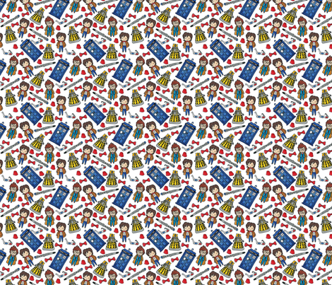 Hello Quirky Time Lords fabric by helloquirky on Spoonflower - custom fabric