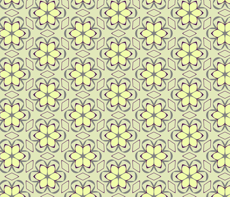 geometric floral fabric by edjeanette on Spoonflower - custom fabric