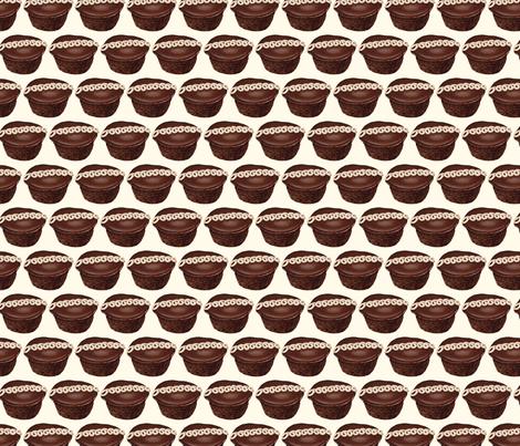 Hostess Cupcake fabric by kellygilleran on Spoonflower - custom fabric