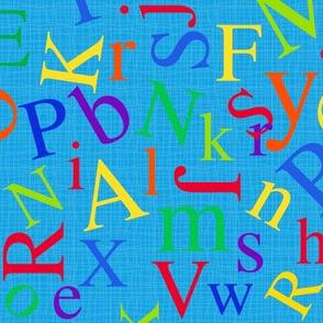 Alphabet Soup Blue