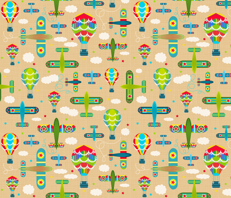 Flying Machines Take Two fabric by bags29 on Spoonflower - custom fabric