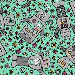 Retro Robots (Mint)