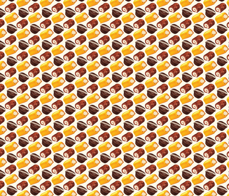 Hostess Cakes  fabric by kellygilleran on Spoonflower - custom fabric
