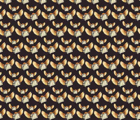 Flying Toasters 1 fabric by kellygilleran on Spoonflower - custom fabric