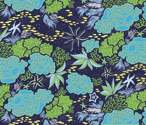 OceansDeep fabric by lissad on Spoonflower - custom fabric