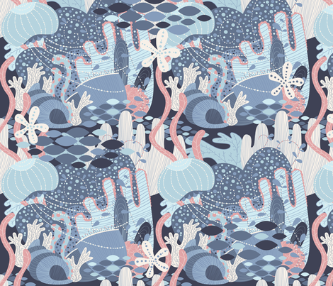 ocean fabric by gnoppoletta on Spoonflower - custom fabric