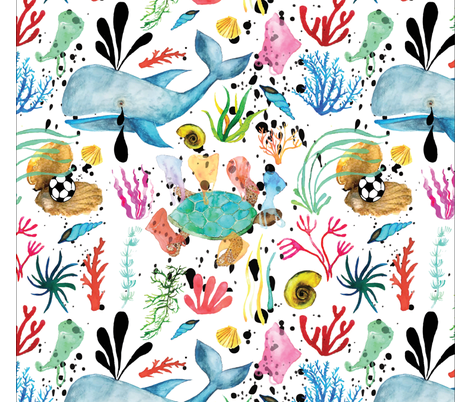 Amazing Ocean fabric by beacapomaggidesign on Spoonflower - custom fabric