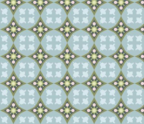 Carreaux de ciment tulip bleu m fabric nadja petremand spoonflower - Carreaux de ciment bleu ...