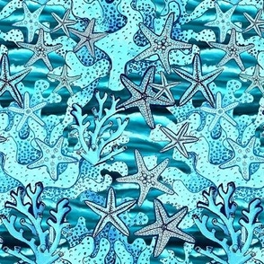 Starfish & Coral Ocean Blues,