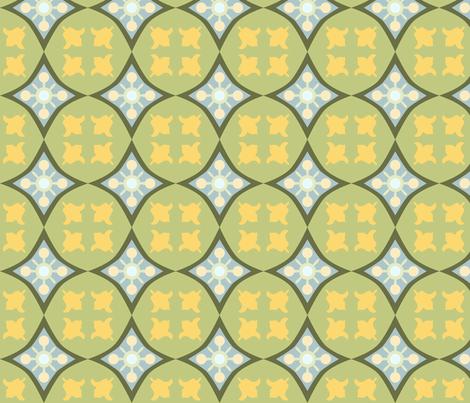 carreaux_de_ciment_tulip_green_M fabric by nadja_petremand on Spoonflower - custom fabric