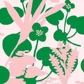 Wetlandflowers_green_and_soft_pink