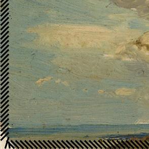 beach sky oil painting