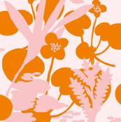 Wetlandflowers_orange_and_soft_pink