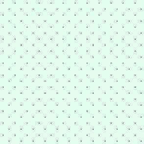 Navy Blue Dots on a Soft Parisian Mint Green Background
