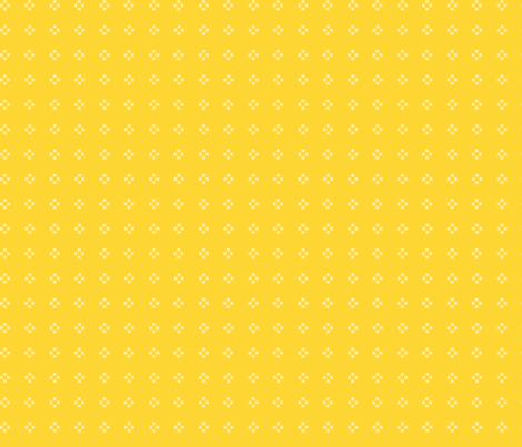 White Dashed Pluses on a Yellow Background fabric by nonico on Spoonflower - custom fabric