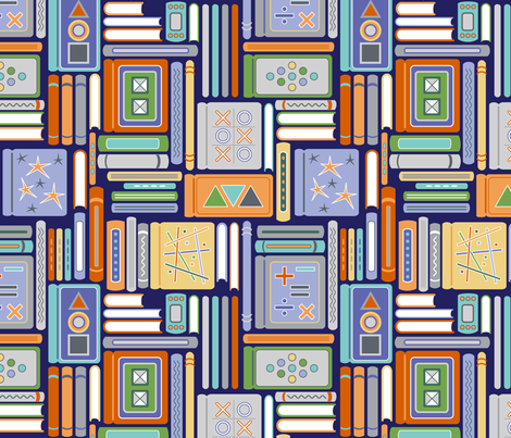 Book Bonanza (Secondary) fabric by brendazapotosky on Spoonflower - custom fabric