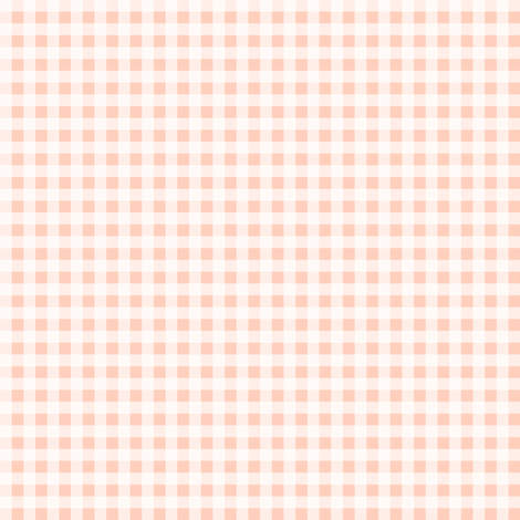 gingham blush peach summer fruit picnic  fabric by charlottewinter on Spoonflower - custom fabric