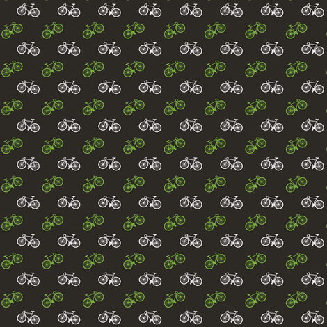Bicycle Print - Lime - Small fabric by tarynosaurus on Spoonflower - custom fabric