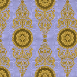 Neoclassical Damask ~ Gilt on Regency Moire