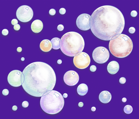 Bubbles_Purp fabric by empress_creative on Spoonflower - custom fabric